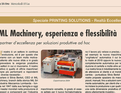 Il Sole 24 Ore: IML Machinery, Experience and Flexibility